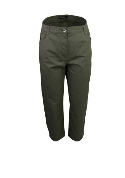 BETTY BARCLAY Skinny 7/8 Länge Hose 5 Pocket oliv