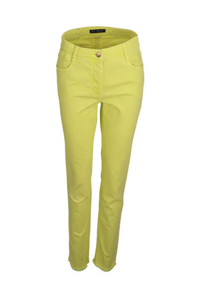 BETTY BARCLAY Slim Fit Jeans Button-Zipp-Verschluss zitronengelb