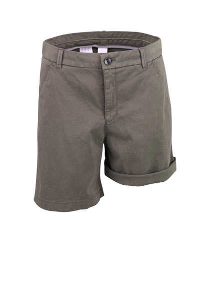 BOSS Short SICHILY-D Button-Zipp-Verschluss oliv