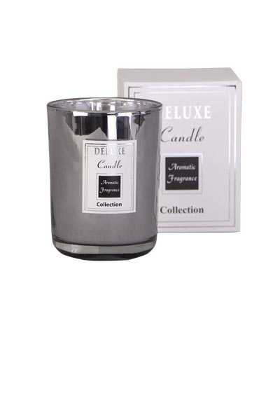 DELUXW CANDLE Duftkerze silber