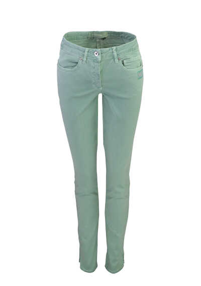MARC AUREL Skinny Fit Hose Normal Waist Strassapplikation mint