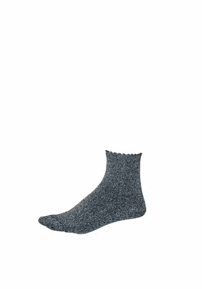 PIECES Socken Glitzer metallic Stretch anthrazit