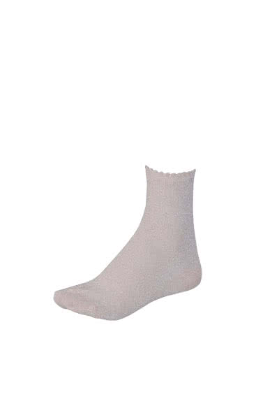 PIECES Socken Glitzer metallic Stretch hellrosa