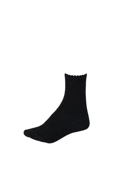 PIECES Socken Glitzer metallic Stretch schwarz