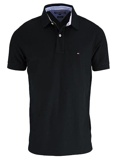 TOMMY HILFIGER Performance Poloshirt Halbarm Regular Fit  schwarz