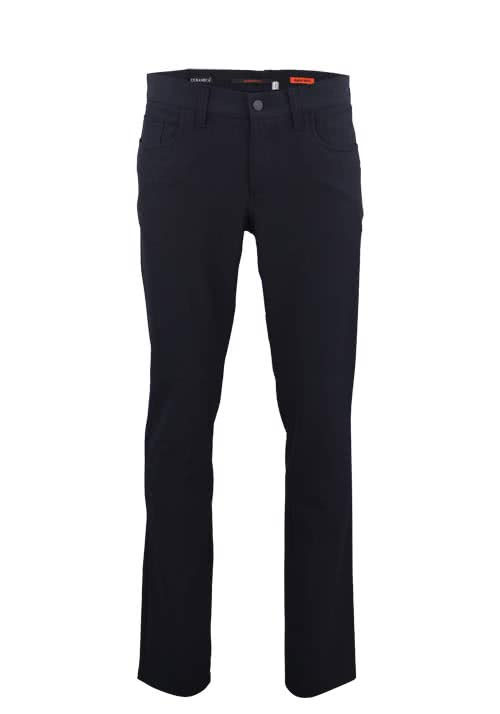 ALBERTO Regular Slim Fit Hose nachtblau