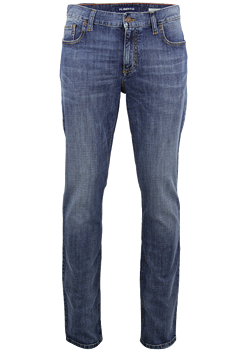 ALBERTO Regular Slim Fit Jeans mittelblau
