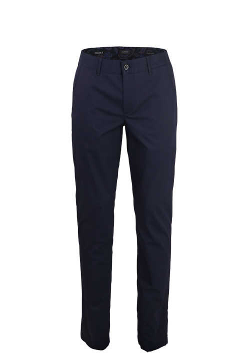 ALBERTO Regular Slim Fit Hose Material-Mix nachtblau