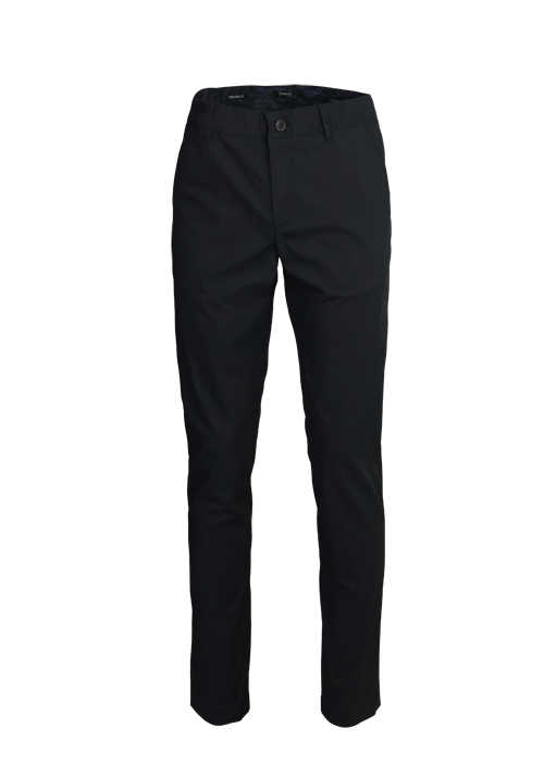 ALBERTO Regular Slim Fit Hose Material-Mix schwarz