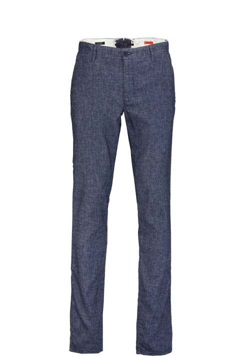 ALBERTO Regular Slim Fit Hose Stretch Struktur dunkelblau