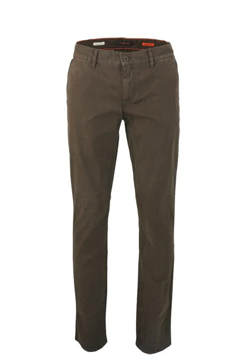 ALBERTO Regular Slim Fit Hose Stretch graubraun