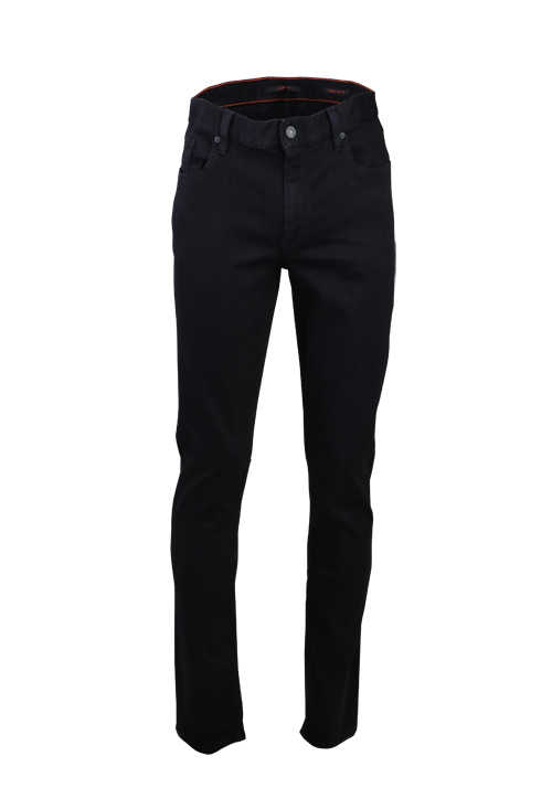 ALBERTO Regular Slim Fit Jeans Used 5 Pocket schwarz