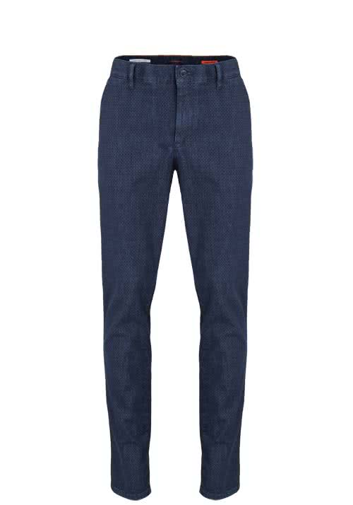 ALBERTO Regular Slim Fit Jeans mit Taschen Muster anthrazit
