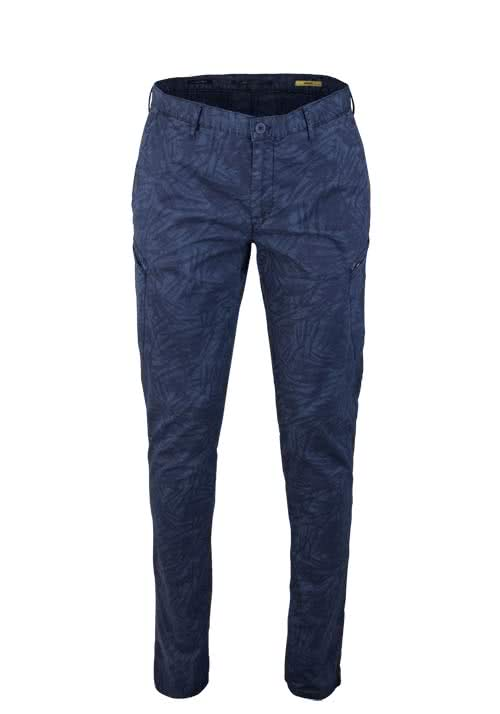 ALBERTO Slim Fit Hose SIX Dynamic Superfit Muster blau