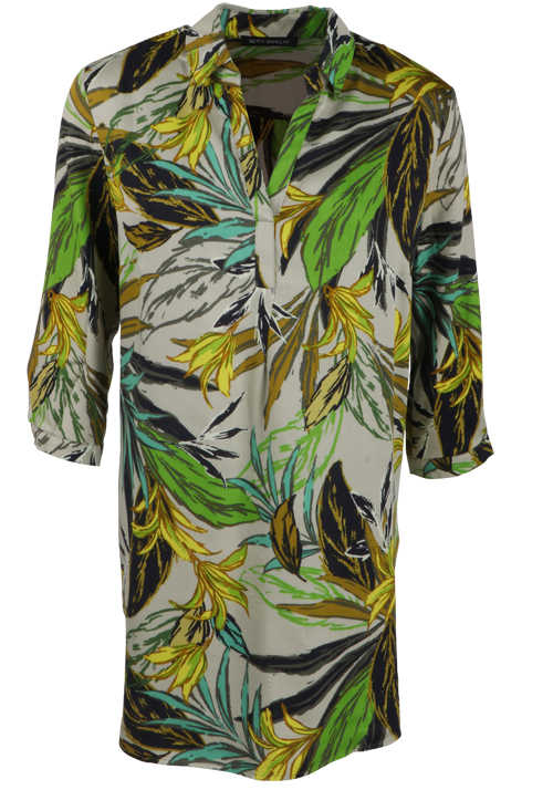 BETTY BARCLAY 3/4 Arm Blusenshirt Florales Muster grün