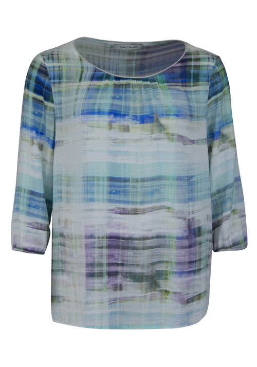 BETTY BARCLAY 3/4 Arm Blusenshirt Rundhals Muster Multicolor