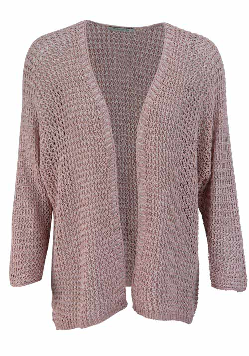 BETTY BARCLAY 3/4 Arm Cardigan Offener Kragen Strick altrosa