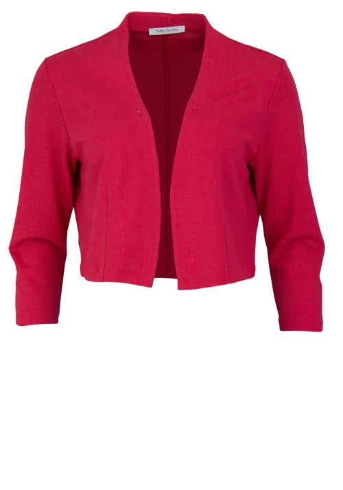 BETTY BARCLAY 3/4 Arm Cardigan Offener Kragen feuerrot