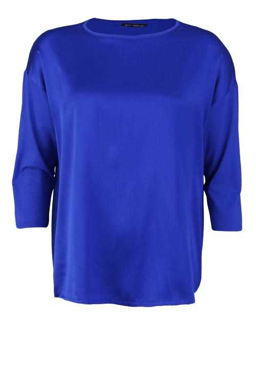 BETTY BARCLAY 3/4 Arm Shirt Rundhals Seide royalblau