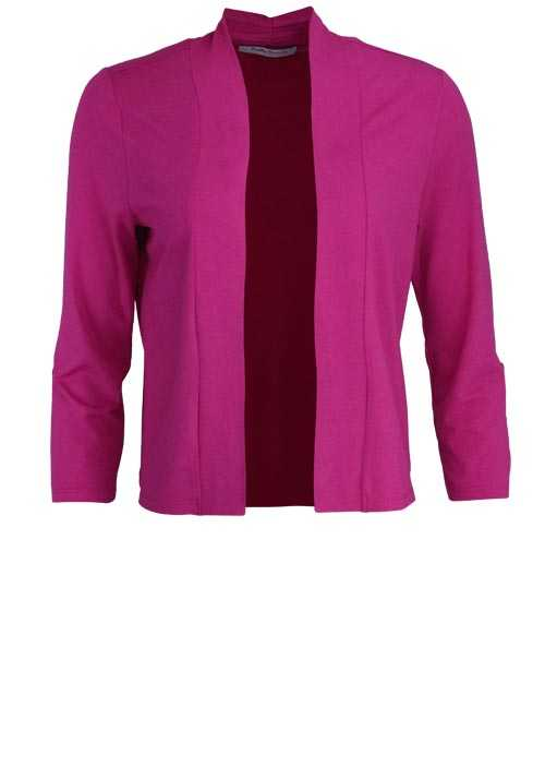 BETTY BARCLAY 3/4 Arm Shirtjacke Offener Kragen hibiskus