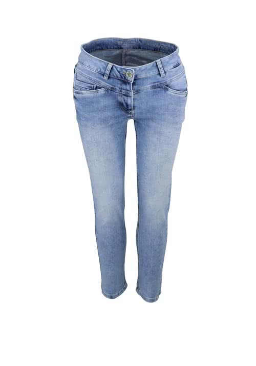 BETTY BARCLAY 7/8 Jeans Destroy mittelblau