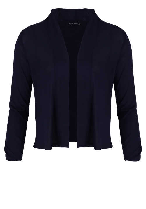 BETTY BARCLAY Damen 3/4 Arm Cardigan Raffung blau