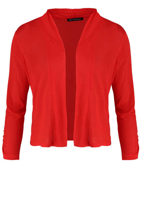 BETTY BARCLAY Damen 3/4 Arm Cardigan Raffung rot
