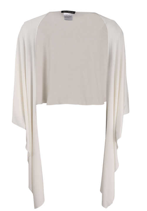 BETTY BARCLAY Damen Feinstrick Poncho ecru