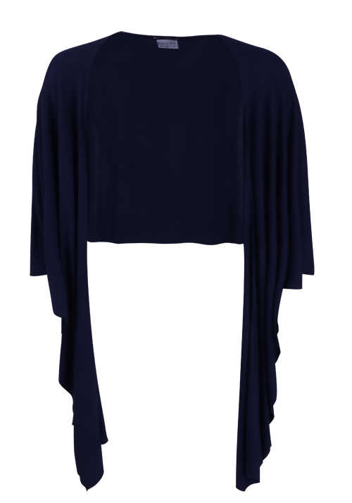 BETTY BARCLAY Damen Feinstrick Poncho navy