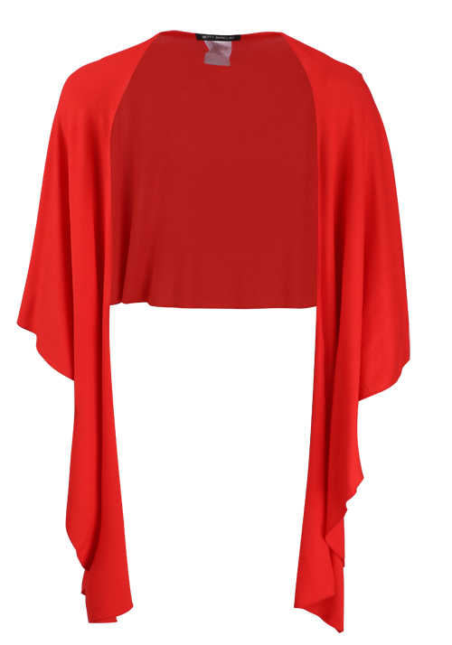 BETTY BARCLAY Damen Feinstrick Poncho rot