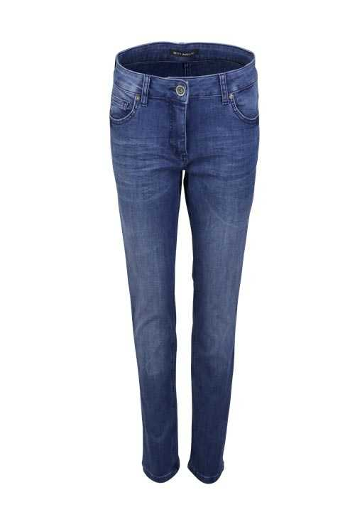 BETTY BARCLAY Jeans Modern Fit Stretch 5 Pocket Used mittelblau