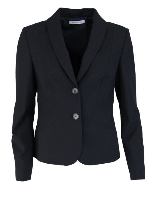 BETTY BARCLAY Langarm Blazer Reverskragen geknöpft Stretch schwarz
