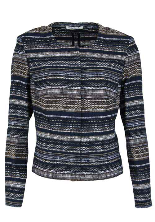 BETTY BARCLAY Langarm Blazerjacke Rundhals Multicolor