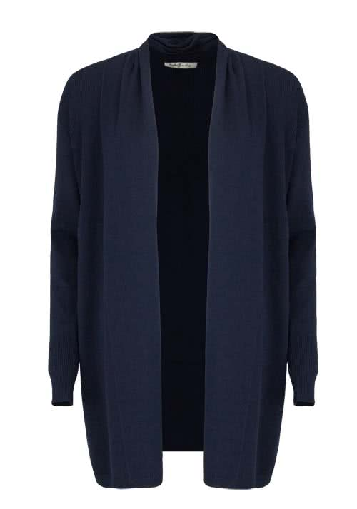 BETTY BARCLAY Langarm Cardigan Schalkragen Zierstrick midnight
