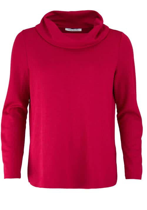 BETTY BARCLAY Langarm Shirt Schalkragen rot