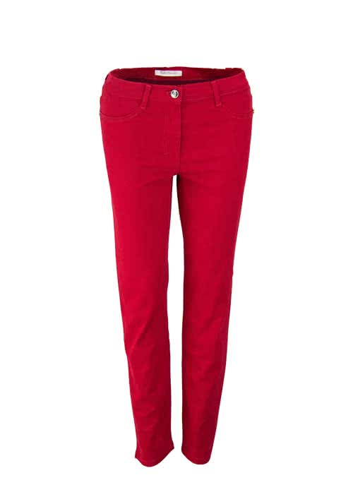 BETTY BARCLAY Skinny Fit Hose SALLY Stretch Taschen rot