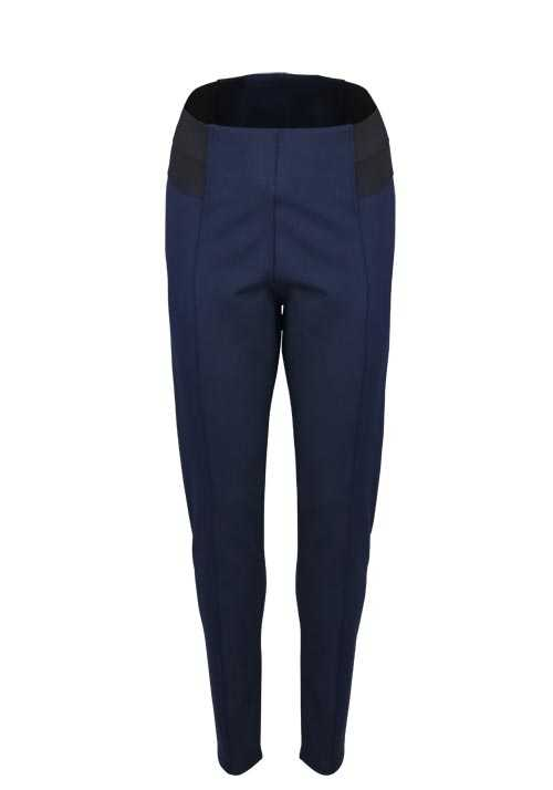 BETTY BARCLAY Skinny Hose Gummibund Stretch dunkelblau