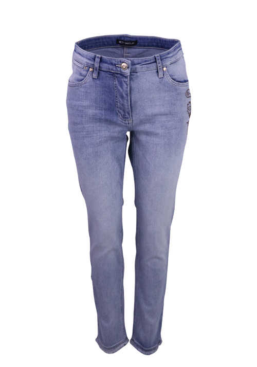 BETTY BARCLAY Skinny Jeans Strassbesatz 5 Pocket hellblau