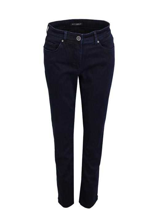BETTY BARCLAY Skinny Jeans Used 5 Pocket Stretch nachtblau
