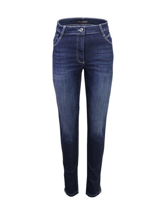 BETTY BARCLAY Skinny Jeans Used 5 Pocket rauchblau