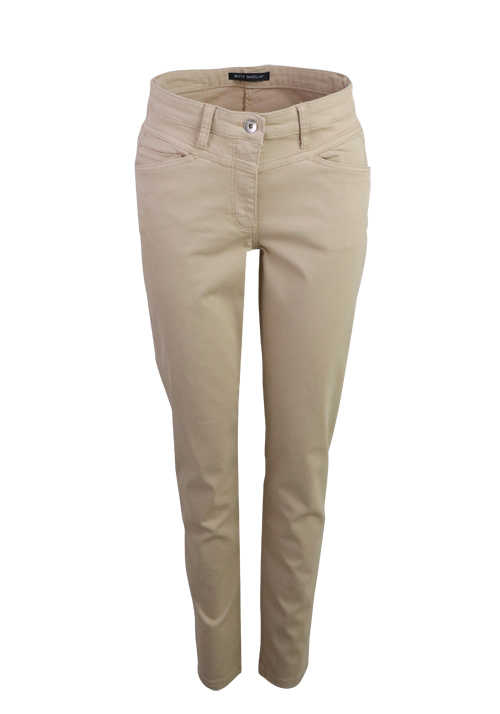 BETTY BARCLAY Slim Fit Hose 5 Pocket Mid Rise Slim Leg Stretch beige