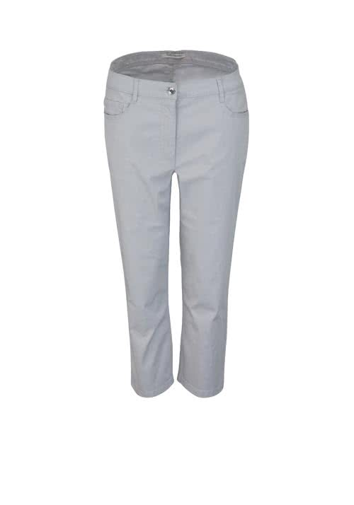 BETTY BARCLAY Slim Fit Hose 7/8 länge 5-Pocket hellgrau