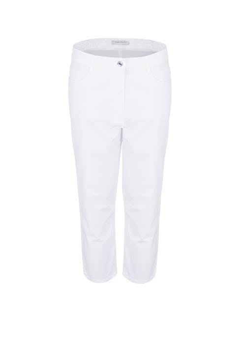BETTY BARCLAY Slim Fit Hose 7/8 länge 5-Pocket weiß