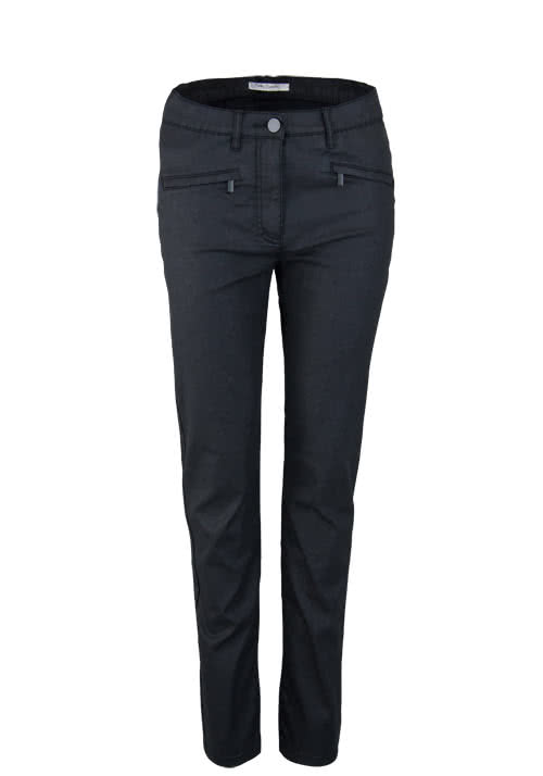 BETTY BARCLAY Slim Fit Hose Beschichtet schwarz