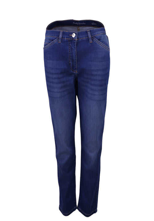 BETTY BARCLAY Slim Fit Jeans Washed 5 Pocket dunkelblau
