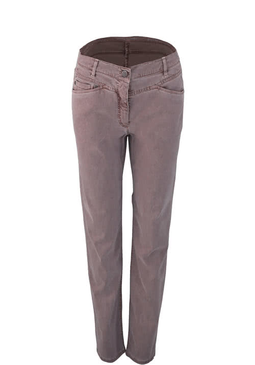 BETTY BARCLAY Slim Hose Stretch Nietendetails mauve