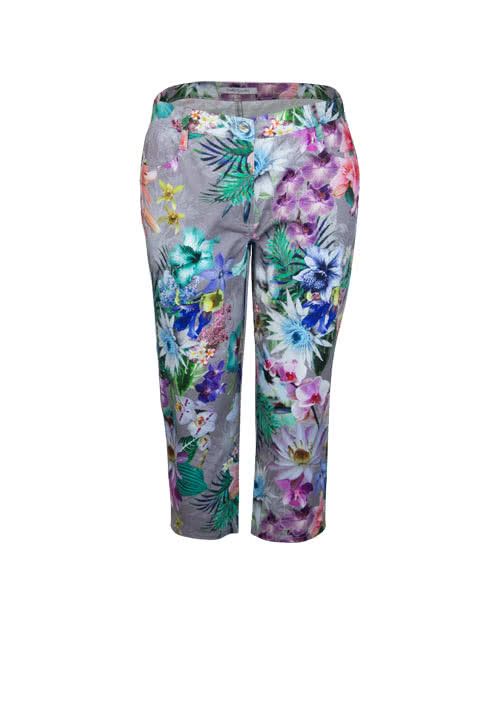 BETTY BARCLAY Straight 7/8 Hose Allover Druck Floral Multicolor