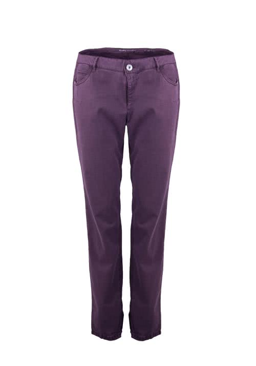 BETTY BARCLAY Straight Hose Regular Fit Stretch aubergine