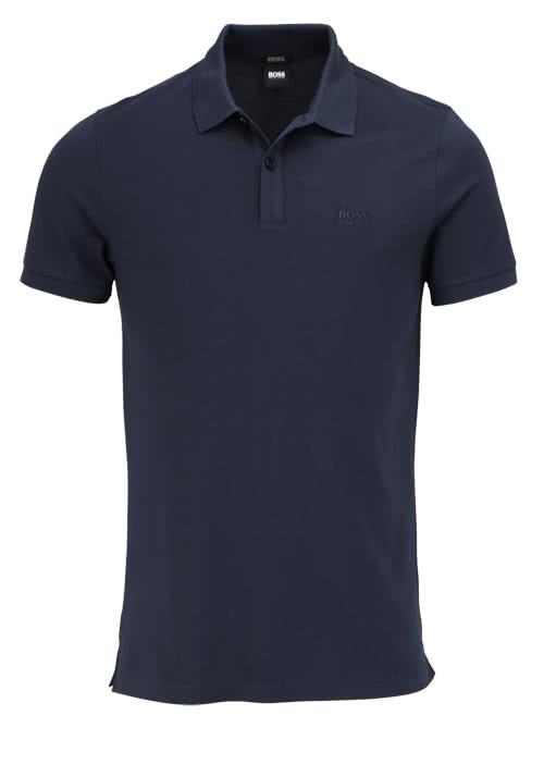 BOSS BUSINESS Poloshirt PALLAS Halbarm geknöpfter Pique navy