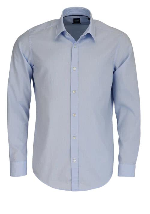 BOSS BUSINESS Regular Fit Hemd Langarm LUKAS_51 Feinoxford hellblau